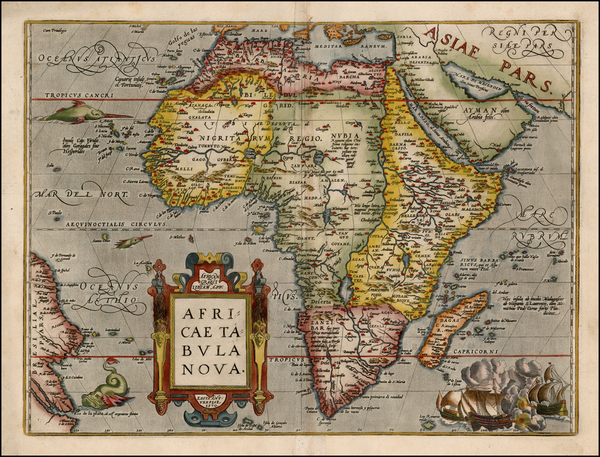 56-Africa Map By Abraham Ortelius