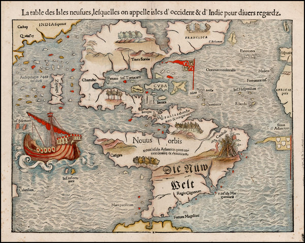 48-World, Western Hemisphere, North America, South America, Pacific and America Map By Sebastian M