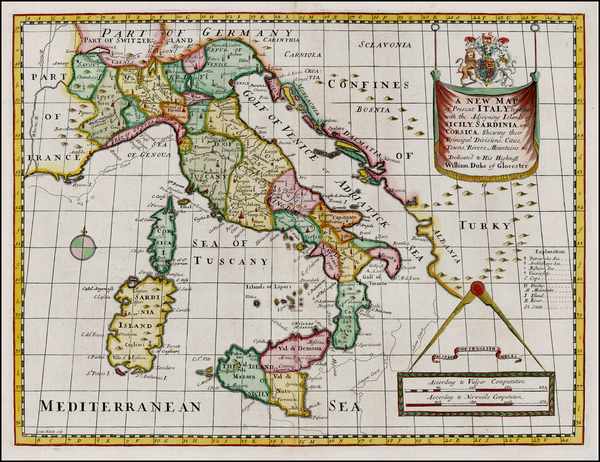 74-Italy Map By Edward Wells