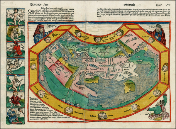 45-World and World Map By Hartmann Schedel