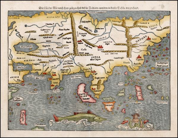 77-Asia Map By Sebastian Munster
