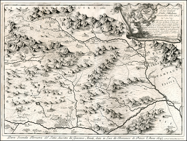 87-Northern Italy and Southern Italy Map By Giacomo Giovanni Rossi