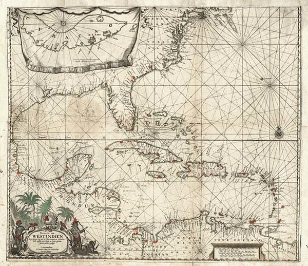 26-Mid-Atlantic, Southeast, Caribbean and Central America Map By Jacobus Robijn
