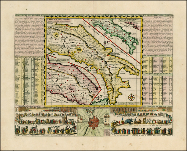 90-Italy Map By Henri Chatelain