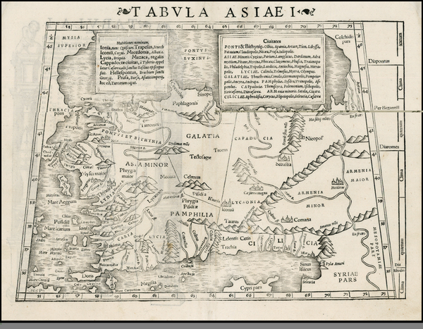 0-Turkey, Balearic Islands, Holy Land and Turkey & Asia Minor Map By Sebastian Munster