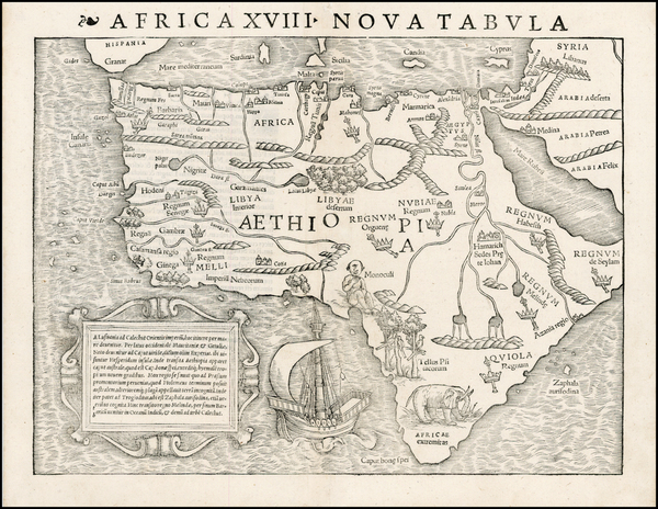 55-Africa and Africa Map By Sebastian Munster