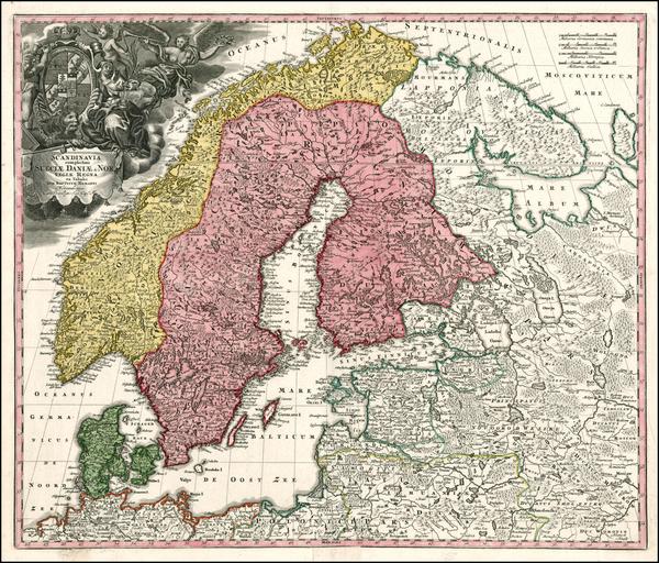 0-Russia, Baltic Countries and Scandinavia Map By Johann Baptist Homann