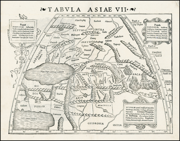 95-Russia, India, Central Asia & Caucasus and Russia in Asia Map By Sebastian Munster