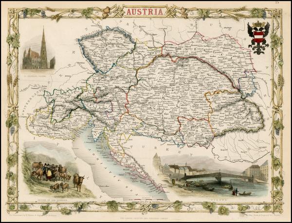 29-Austria Map By John Tallis