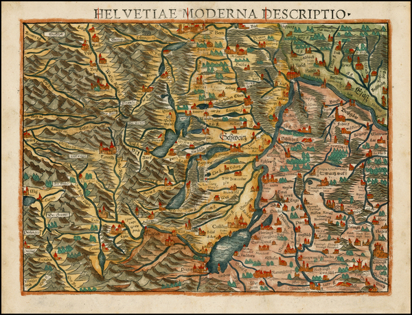 40-Switzerland Map By Sebastian Munster