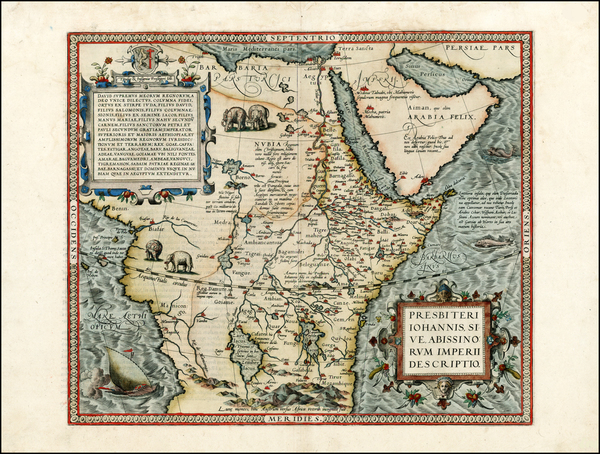 74-Africa, North Africa, East Africa and West Africa Map By Abraham Ortelius