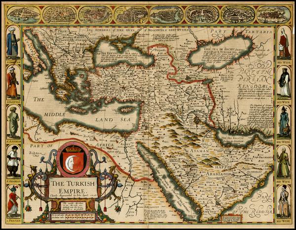 57-Russia, Ukraine, Turkey, Mediterranean, Middle East and Turkey & Asia Minor Map By John Spe