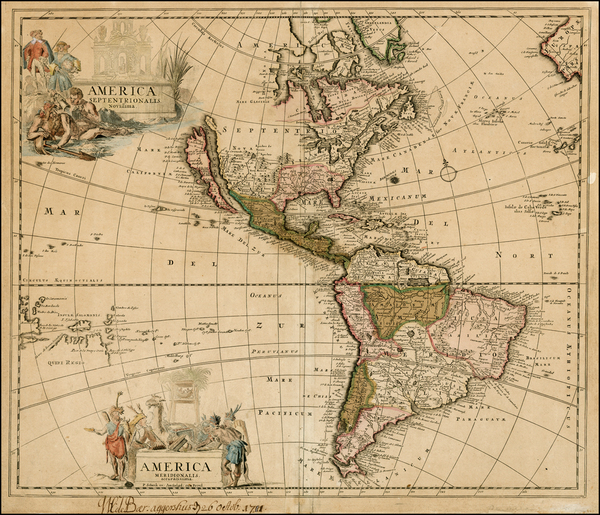 39-South America, Australia & Oceania, Oceania and America Map By Peter Schenk