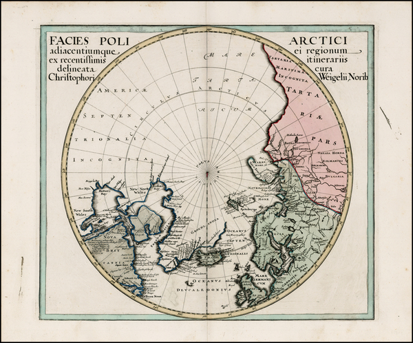 11-Northern Hemisphere, Polar Maps, Alaska, Canada, Russia and Scandinavia Map By Christopher Weig