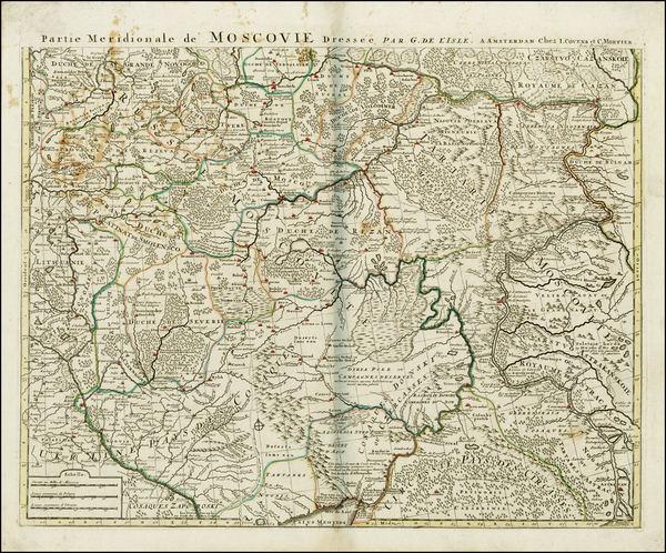85-Russia and Ukraine Map By Johannes Covens  &  Cornelis Mortier