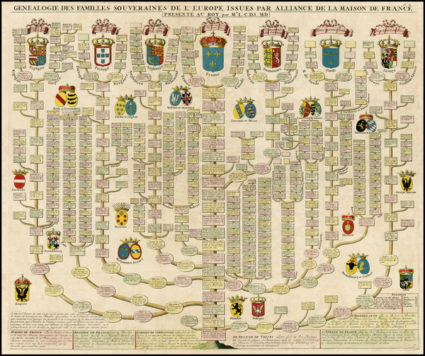 39-British Isles, France, Italy, Portugal and Scandinavia Map By Henri Chatelain