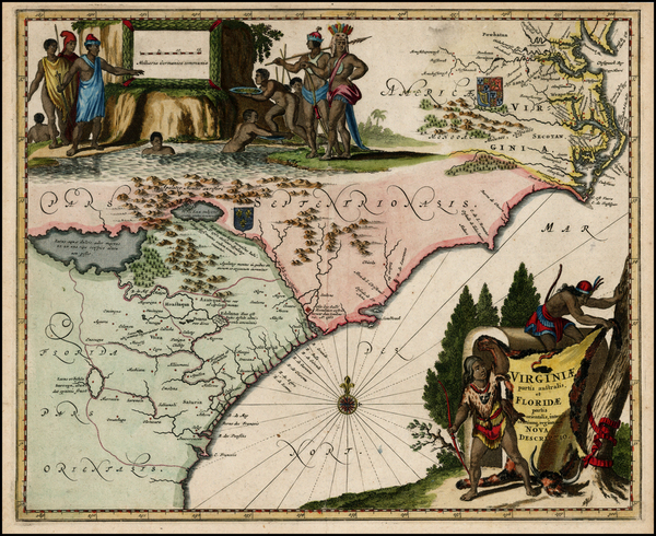 8-Mid-Atlantic and Southeast Map By Arnoldus Montanus
