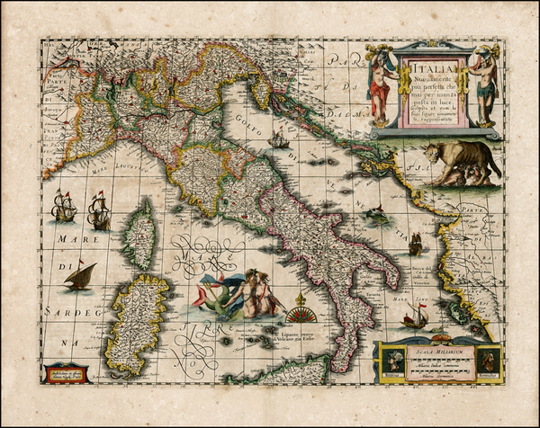73-Italy and Other Islands Map By Jan Jansson