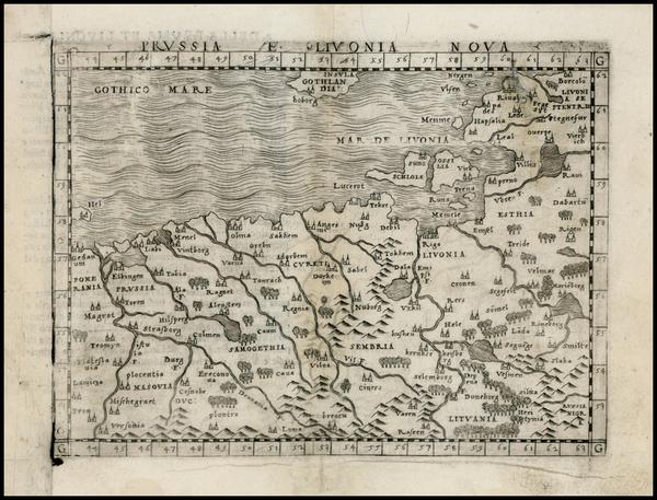 70-Poland and Baltic Countries Map By Giacomo Gastaldi
