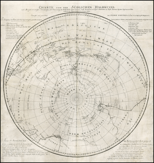 38-Southern Hemisphere, Polar Maps, South America, Australia & Oceania and Pacific Map By Geor