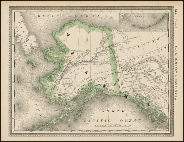 38-Alaska Map By Rand McNally & Company