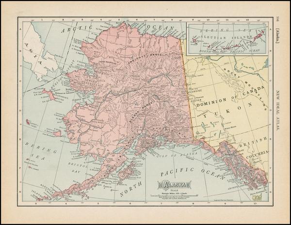 53-Alaska Map By Rand McNally & Company