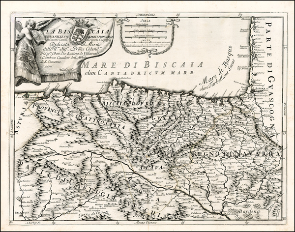42-Spain Map By Giacomo Giovanni Rossi / Giacomo Cantelli da Vignola