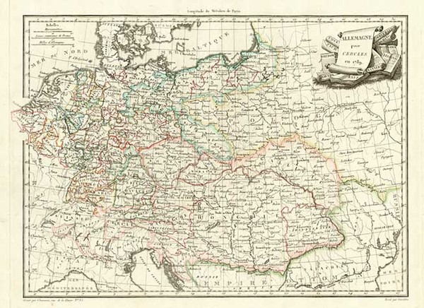 21-Europe, Germany, Austria, Poland and Hungary Map By Conrad Malte-Brun