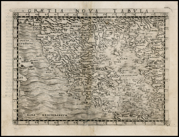 80-Greece, Turkey and Balearic Islands Map By Giacomo Gastaldi