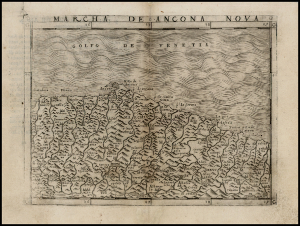 51-Italy Map By Giacomo Gastaldi