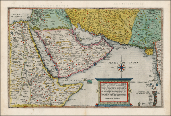 71-Central Asia & Caucasus, Middle East, Holy Land and Egypt Map By Cornelis de Jode