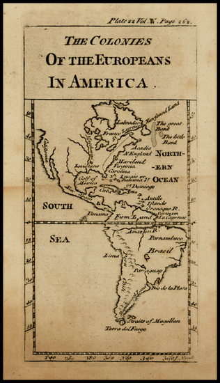 85-North America, South America and America Map By J. Mynde