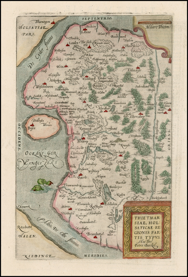16-Germany and Baltic Countries Map By Abraham Ortelius