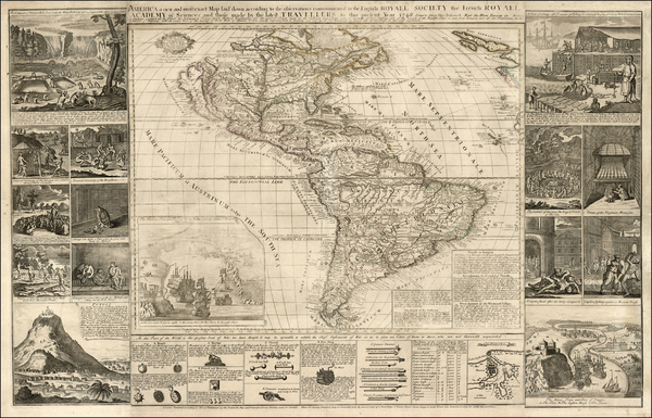 54-United States, North America, South America and America Map By Thomas Bakewell