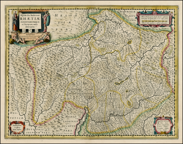 68-Switzerland and Italy Map By Jan Jansson