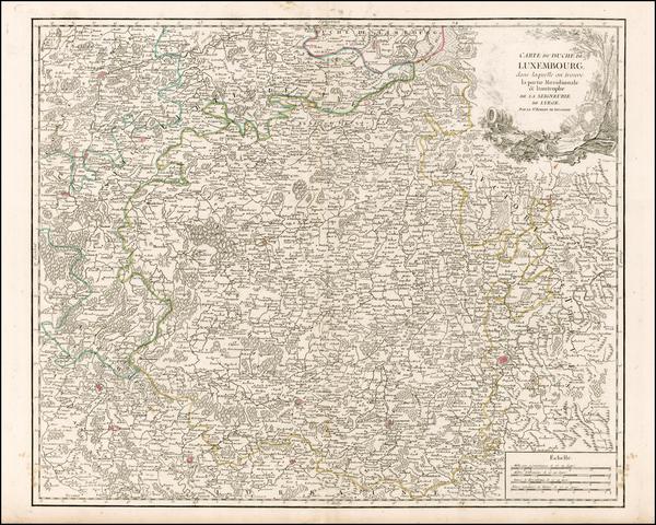 68-Luxembourg Map By Gilles Robert de Vaugondy