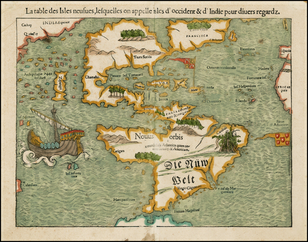 66-World, Western Hemisphere, North America, South America, Pacific and America Map By Sebastian M