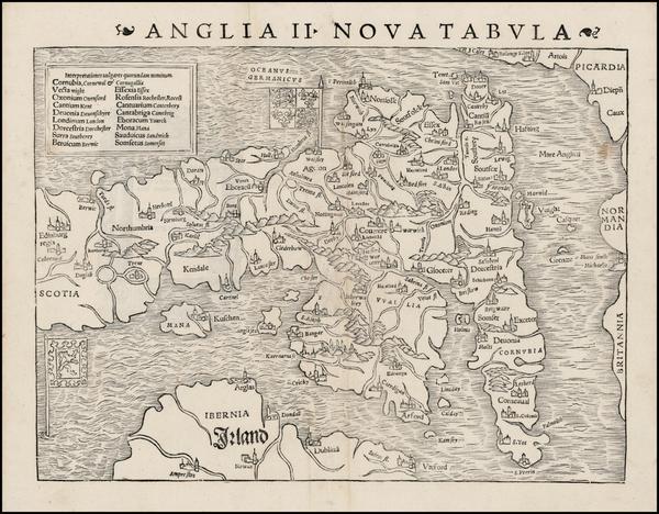 73-British Isles Map By Sebastian Munster