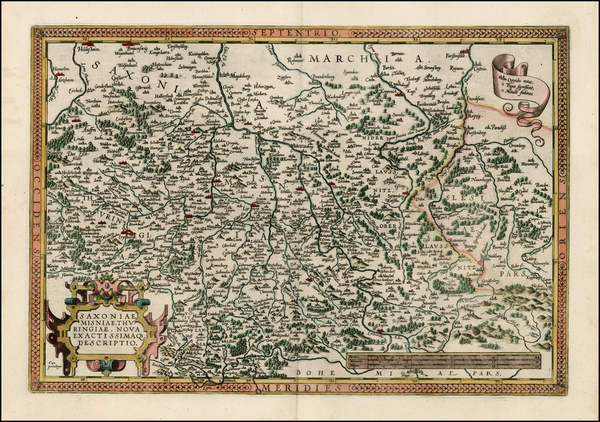 34-Germany and Czech Republic & Slovakia Map By Abraham Ortelius