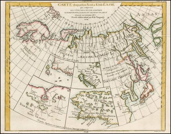 8-Alaska, Asia, Japan and Russia in Asia Map By Denis Diderot / Didier Robert de Vaugondy