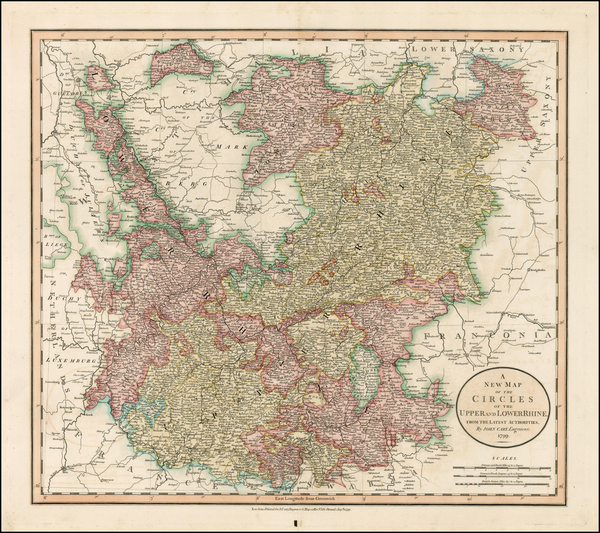 41-Germany, Austria, Czech Republic & Slovakia and Baltic Countries Map By John Cary