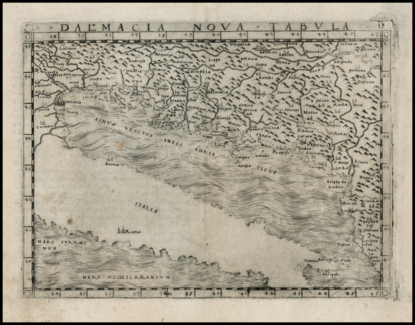 11-Balkans and Italy Map By Giacomo Gastaldi