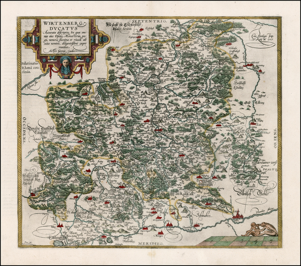 88-Germany Map By Abraham Ortelius