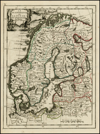 61-Scandinavia Map By George Louis Le Rouge