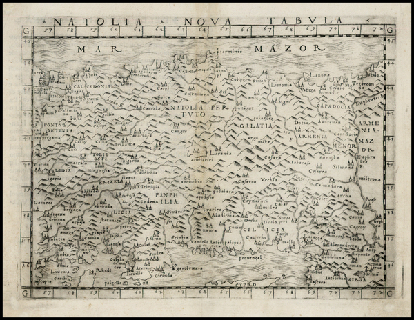 58-Turkey and Turkey & Asia Minor Map By Giacomo Gastaldi