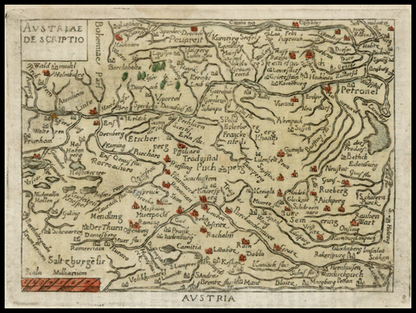 48-Austria and Hungary Map By Abraham Ortelius / Philippe Galle