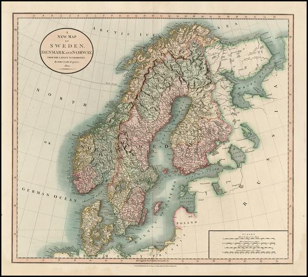 66-Scandinavia Map By John Cary