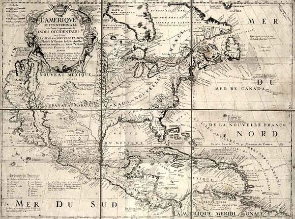 90-North America and California Map By Jean-Baptiste Nolin