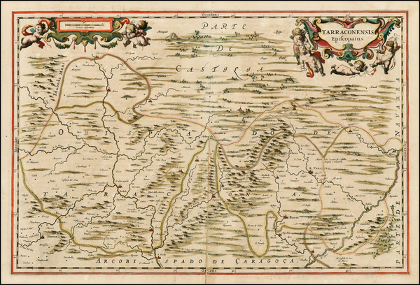 16-Spain Map By Johannes Blaeu
