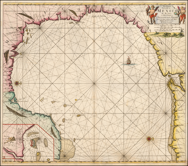 Florida, South, Texas and Mexico Map By Gerard Van Keulen